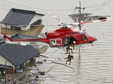 Banjir Tewaskan 100 Orang, PM Abe Batalkan Dinas Luar Negeri