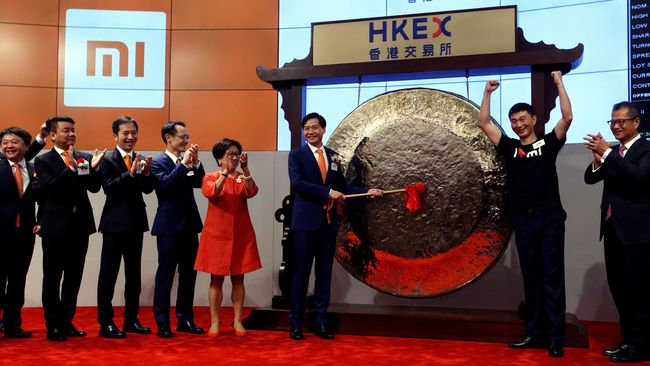 Floating on the Hong Kong Stock Exchange, Xiaomi reached
