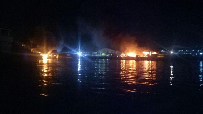 Jumlah Kapal Terbakar di Pelabuhan Benoa Mencapai 39 Unit