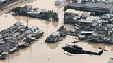 Sementara jumlah korban telah mencapai yang tertinggi sejak 1983, puluhan orang hingga kini masih dinyatakan hilang. (Mandatory credit Kyodo/via REUTERS)