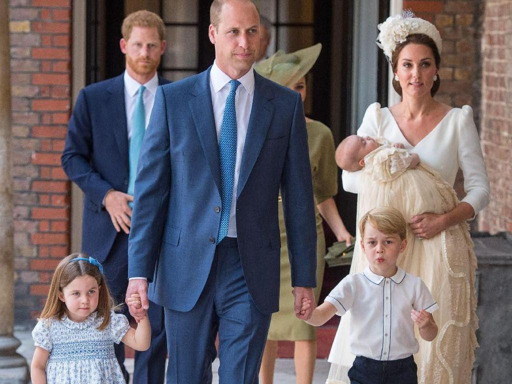 Foto: Debut Pangeran William dan Kate Middleton Tampil dengan 3 Anaknya