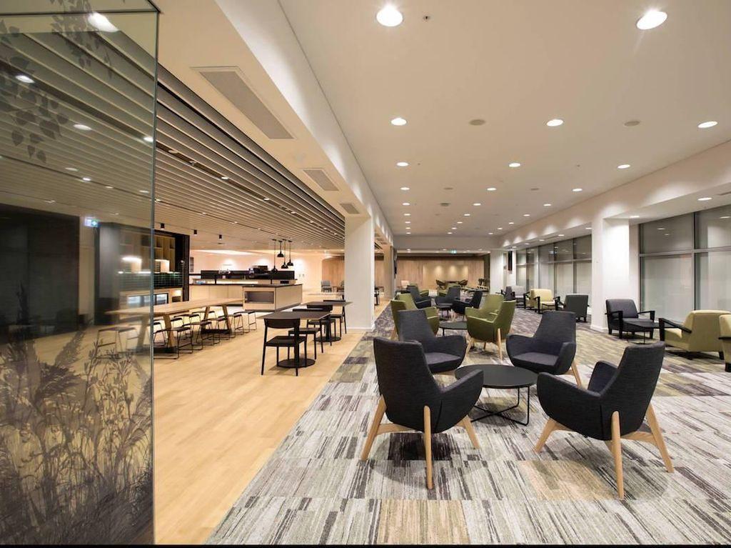 Strata Lounge, International Terminal, Auckland Airport. Lounge ini bisa dinikmati dengan tarif sebesar US$ 37,72. Istimewa/Strata Lounge.