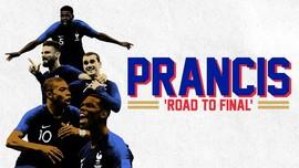 INFOGRAFIS: Perjalanan Prancis ke Final Piala Dunia 2018