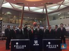 Listing Perdana, Saham Pollux Properti Melesat Hampir 50%
