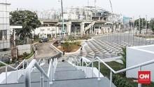 Fisik Stasiun LRT Kelapa Gading-Velodrome Baru 77 Persen