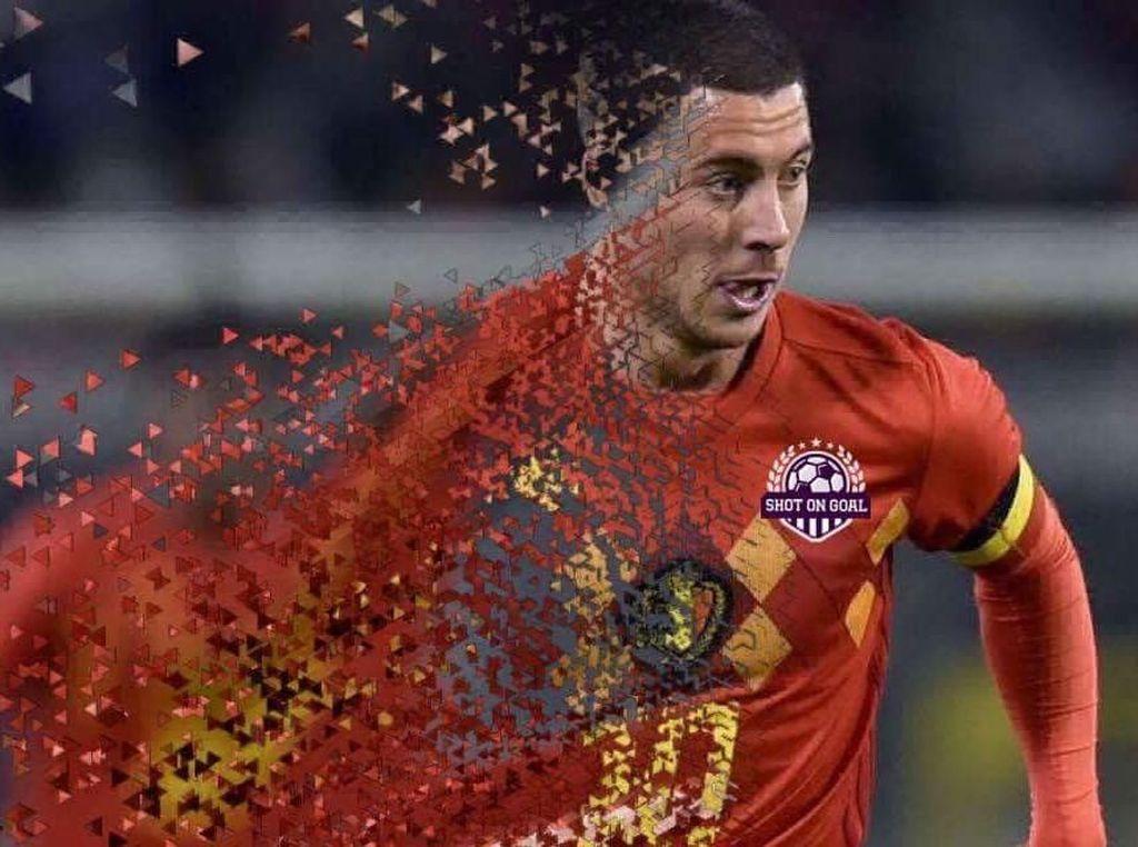 Hazard pun seakan hilang dalam pertandingan semalam. Foto: Istimewa