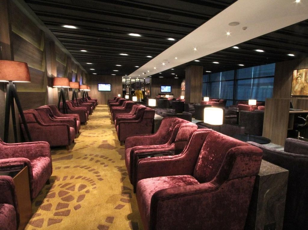 Plaza Premium Lounge, Terminal 3, Indira Gandhi International Airport, Delhi. Lounge ini bisa dinikmati dengan tarif sebesar US$ 26,77. Istimewa/Plaza Premium Lounge.
