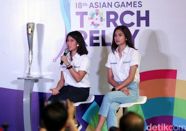 Dian Sastro dan Mikha Tambayong Siap Bawa Obor Asian Games 2018