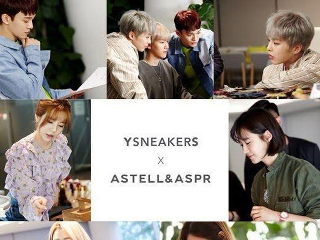 Siap-siap SONE & EXO-L! Girls Generation dan EXO Jadi Desainer Sneakers