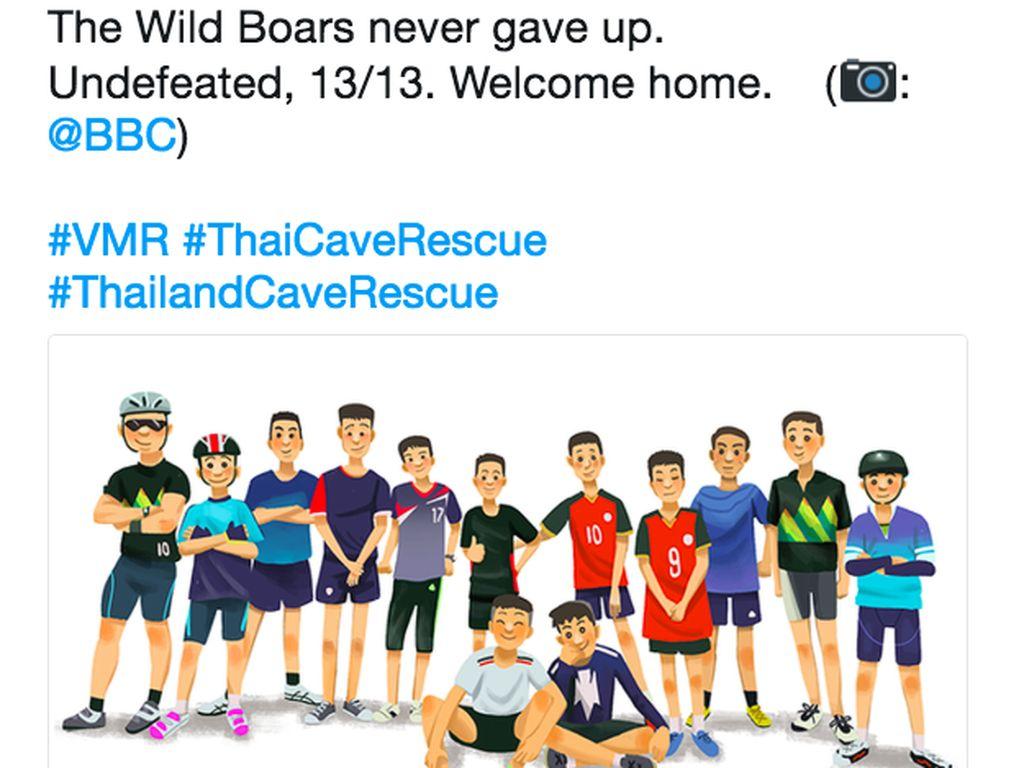 Wild Boars tak pernah menyerah, tak terkalahkan. Foto: istimewa