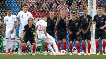 VIDEO: Gol Cantik Trippier di Babak I Kroasia vs Inggris