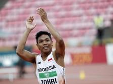 Zohri Sang Juara Dunia Lari Asal RI 'Kebanjiran Rumah'