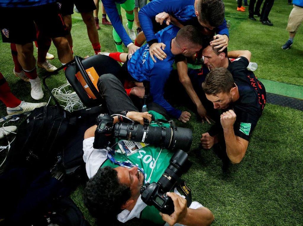 Kemenangan ini meloloskan Kroasia ke final untuk berjumpa Prancis pada Minggu (15/7). Foto: Carl Recine/Reuters