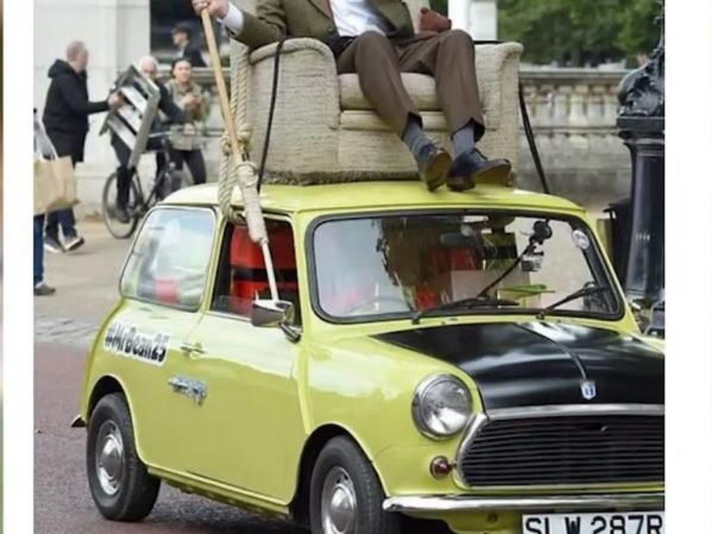 Inggris digambarkan sebagai Mr Bean balik ke rumah.Foto: Internet