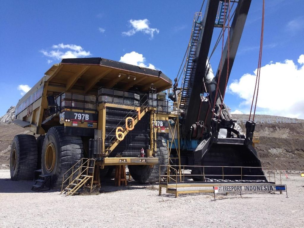 Data yang diterima Direktorat Jenderal Mineral dan Batubara Kementerian ESDM, update pada 3 Juli 2018, total produksi ore yang masuk ke Mill Stockpile 146.896 ton/hari. Wahyu Daniel/detikcom.