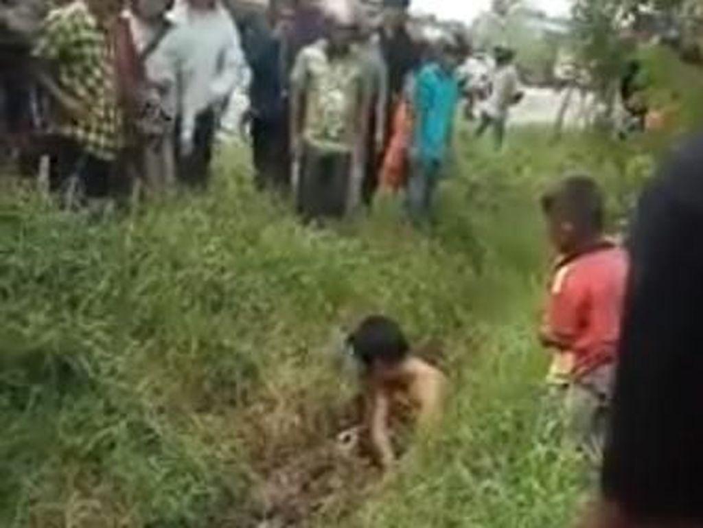Sebelum kejadian yang akhirnya direkam dalam video itu, Susanto mengalami kecelakaan saat mengelas kanopi.