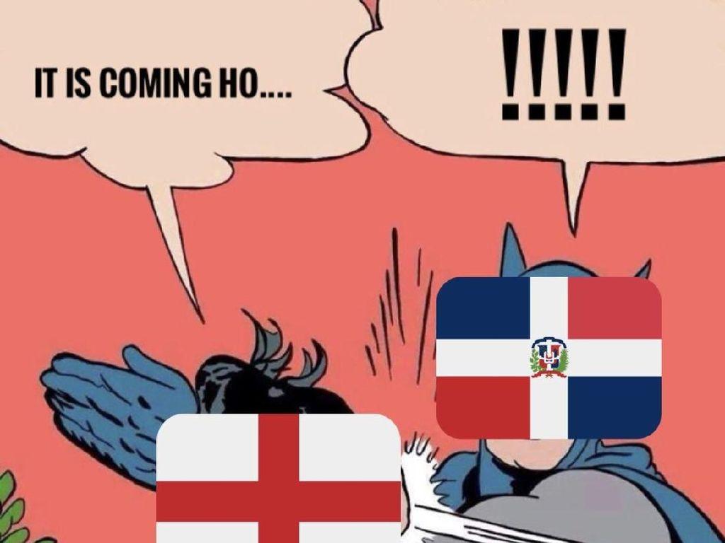 Kroasia sukses menampar Inggris dan menyadarkannya tidak bisa menjuarai Piala Dunia 2018. Kroasia sendiri akan menantang Prancis di final, Minggu (15/7). (Foto: Twitter @alberteinstein)
