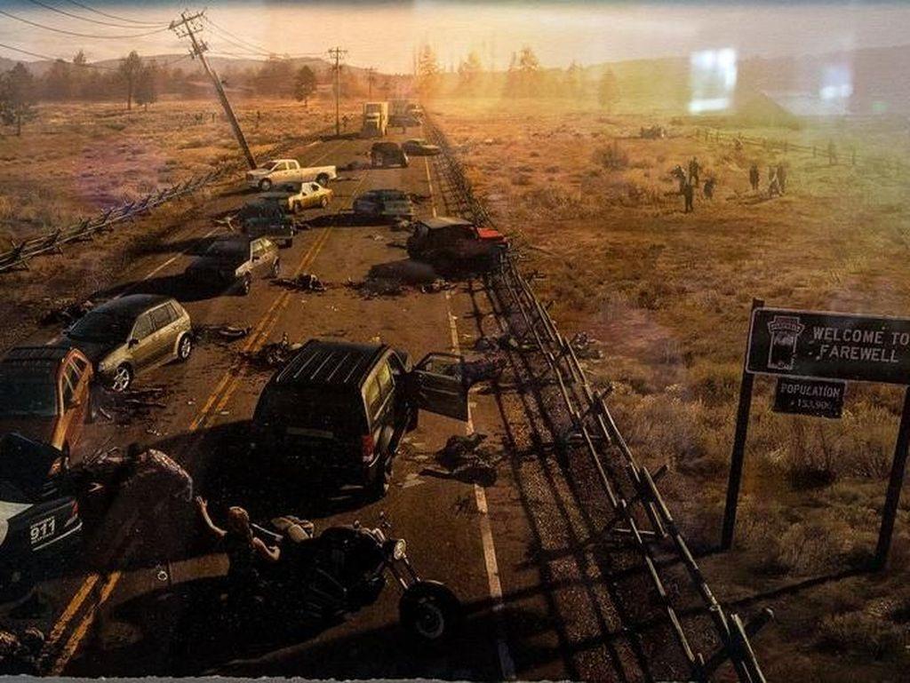 Karya ciptaan Joel Mandish ini berjudul Highway Loot dan dapat ditemukan di game Days Gone. Foto: Josh Miller/CNET