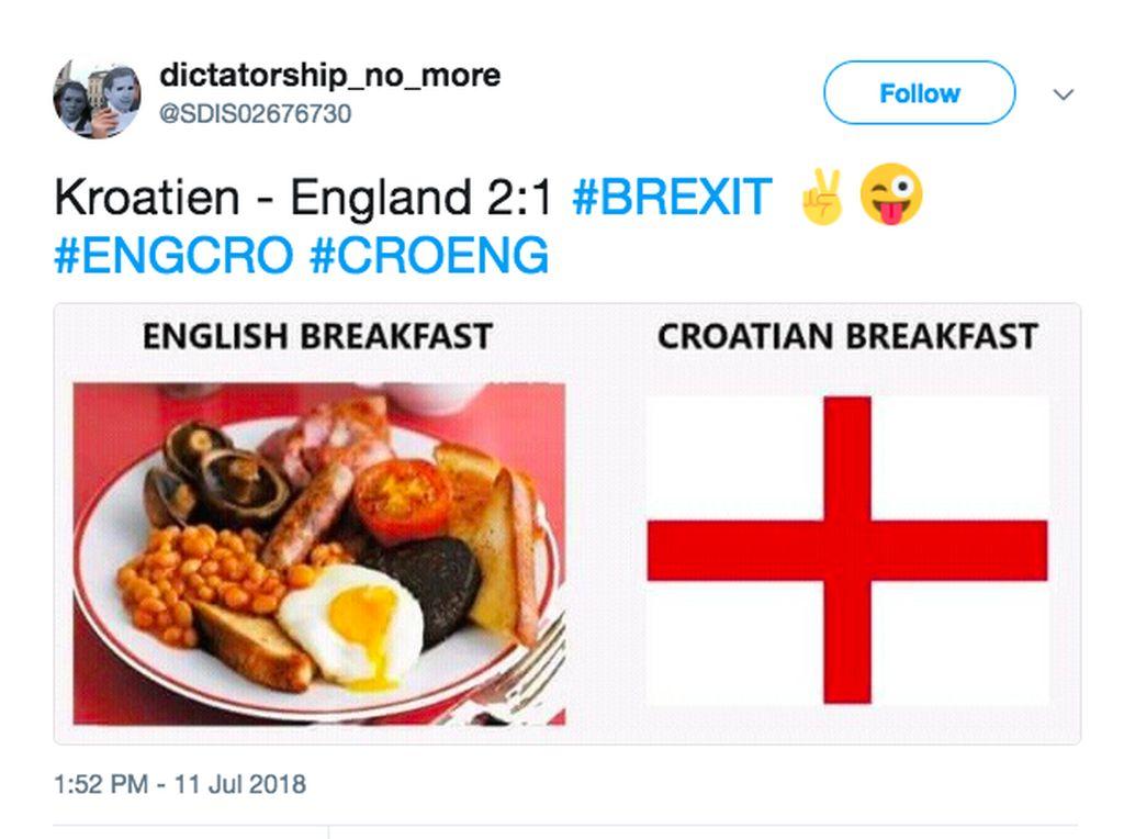 Inggris jadi santapan Kroasia. Foto: Internet