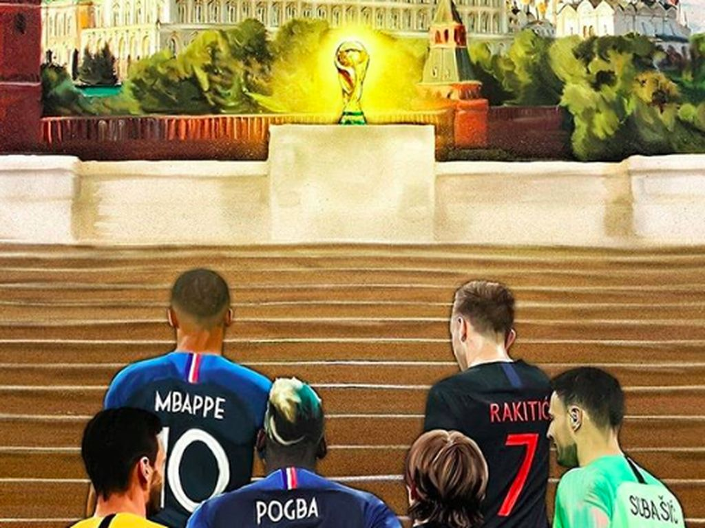 Tinggal Kroasia dan Prancis yang punya kesempatan mengangkat Piala Dunia. Foto: istimewa