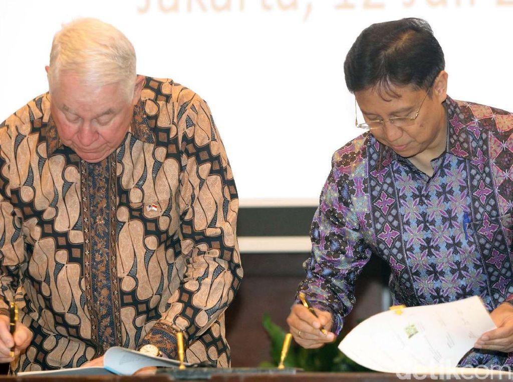 Penandatanganan dilakukan oleh Direktur Utama Inalum Budi Gunadi Sadikin dan CEO Freeport Mcmoran Ricard Adkerson.