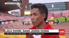 Atlet Lari Indonesia Juara Nomor 100 Meter