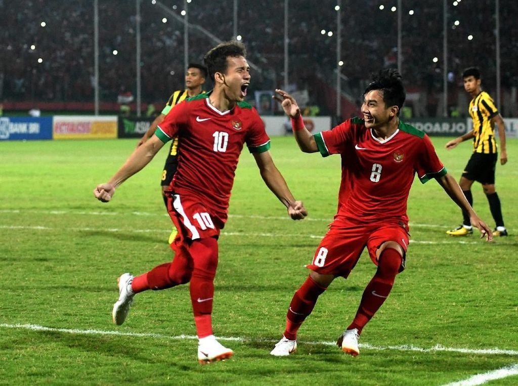 Indonesia sebenarnya tampil baik setelah unggul cepat lewat penalti Egy Maulana Vikri. Namun Malaysia mampu menyamakan kedudukan dan memaksa pertandingan dilanjutkan dengan adu penalti. ANTARA FOTO/Zabur Karuru.