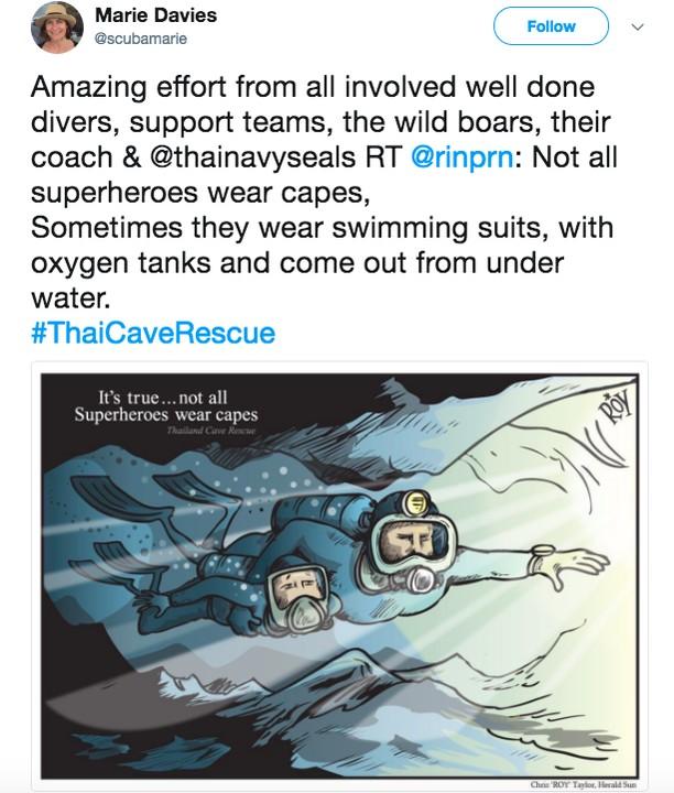 Deretan Kartun Viral Penyelamatan Heroik di Gua Thailand