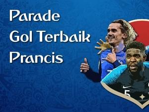 VIDEO: Parade Gol Terbaik Prancis di Piala Dunia 2018