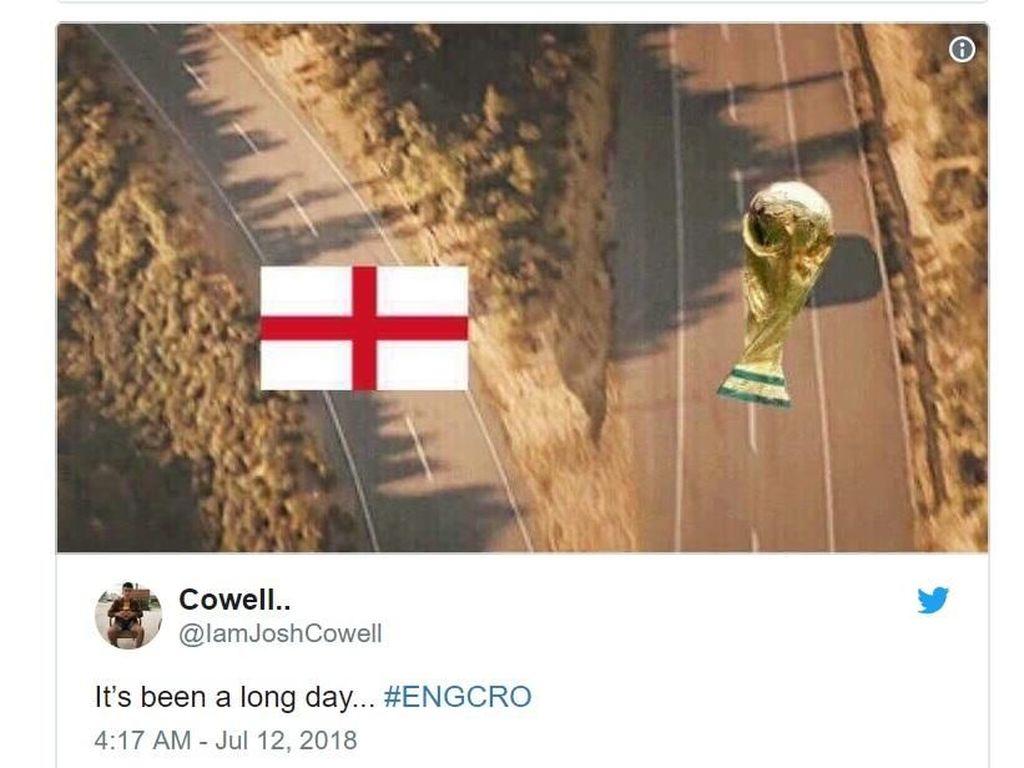 Inggris dan Piala Dunia kembali berpisah jalan Foto: Internet