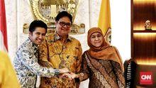 Khofifah dan Airlangga Bahas Dukungan untuk Jokowi di Jatim