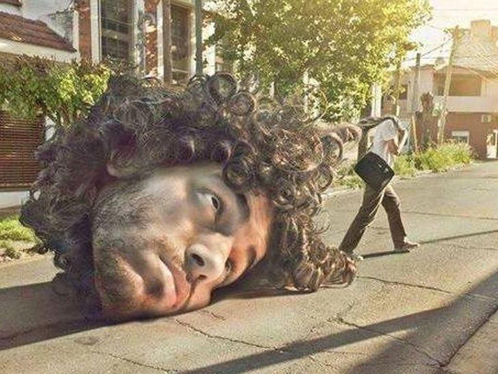 Menggeret kepala. Foto: Martín De Pasquale