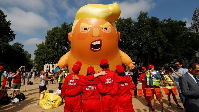 Ada Demonstrasi, Trump Merasa Tak Diterima di London