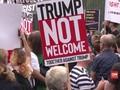 VIDEO: Unjuk Rasa yang Gaduh Sambut Trump di Inggris