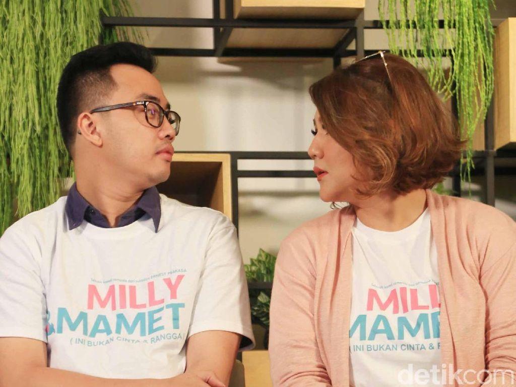 Di film Milly & Mamet menceritakan keluarga kecil yang lucu dan mengemaskan. Foto: Pool/Ismail/detikHOT