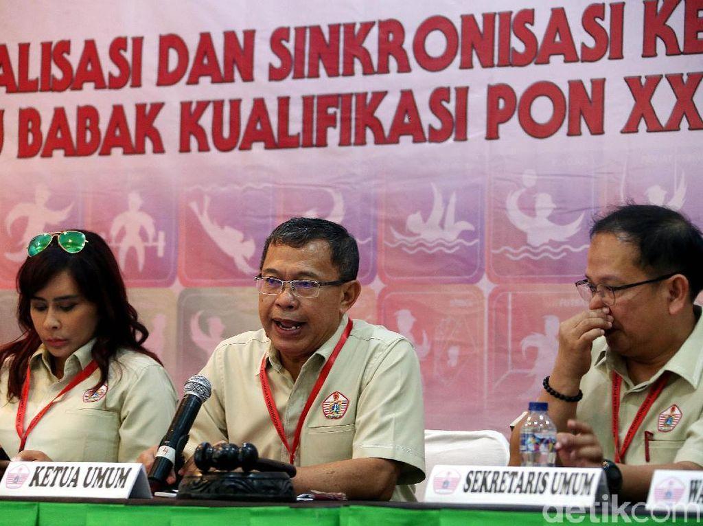Rapat Koordinasi (Rakor) Cabang Oahraga KONI DKI digelar untuk persiapan menghadapi babak kualifikasi PON 2020 Papua.
