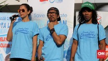 Kaka dan Ridho Slank Inisiasi Kampanye Kurangi Sampah Plastik