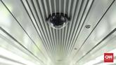Setiap gerbong kereta LRT akan dilengkapi dengan CCTV. (CNN Indonesia/ Hesti Rika)