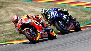 Marquez Juara MotoGP Jerman, Rossi Finis Kedua