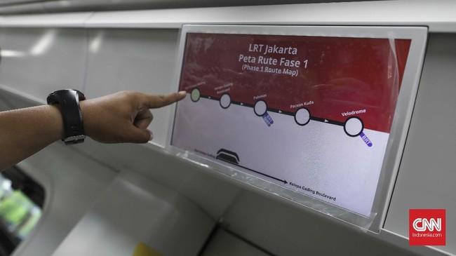 LRT Kelapa Gading-Velodrome nantinya akan memiliki enam stasiun pemberhentian.(CNN Indonesia/ Hesti Rika)