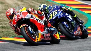 Unggul Jauh atas Rossi, Marquez Lebih Santai di MotoGP 2018