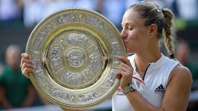 Kalahkan Serena, Angelique Kerber Juara Wimbledon 2018