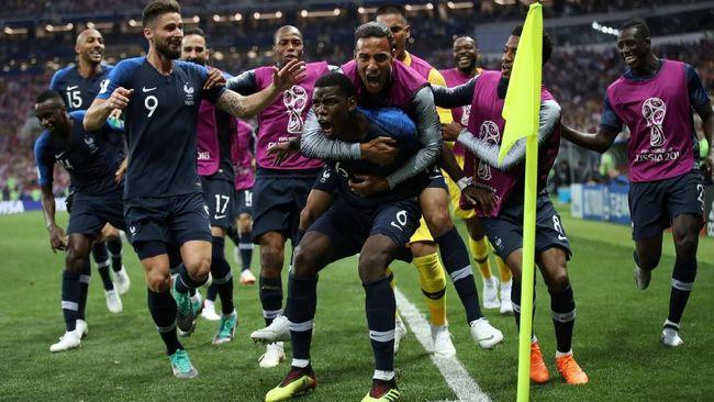 Menang 4-2, Prancis Juara Piala Dunia 2018