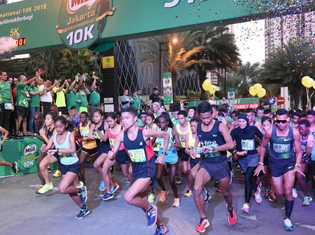 Sebanyak 16.000 pelari mengikuti kejuaraan Milo Jakarta International 10K.