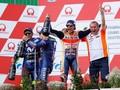 FOTO: Marquez Kalahkan Rossi di MotoGP Jerman