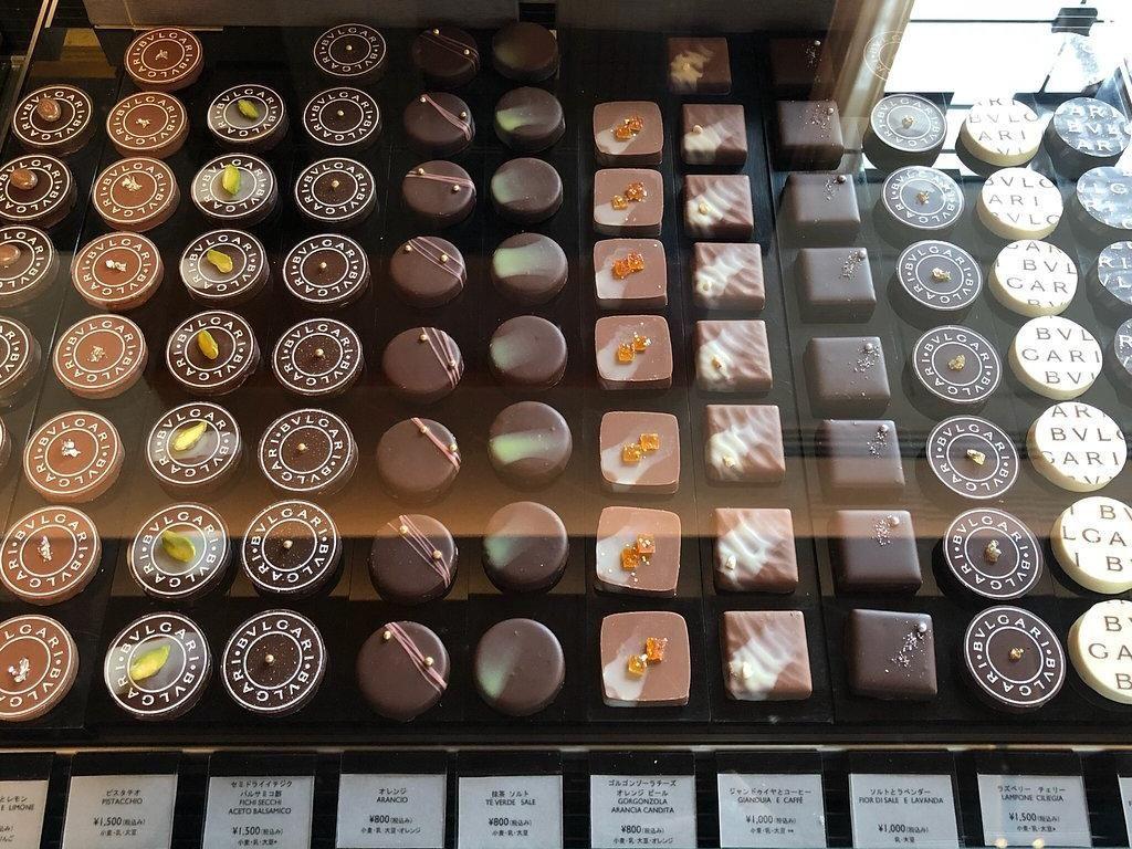Tersedia beragam cokelat kualitas premium milik Bulgari yang dikenal punya rasa yang manis legit. Foto: Katelu0726
