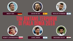 INFOGRAFIS: Tim Bintang Terpuruk di Piala Dunia 2018