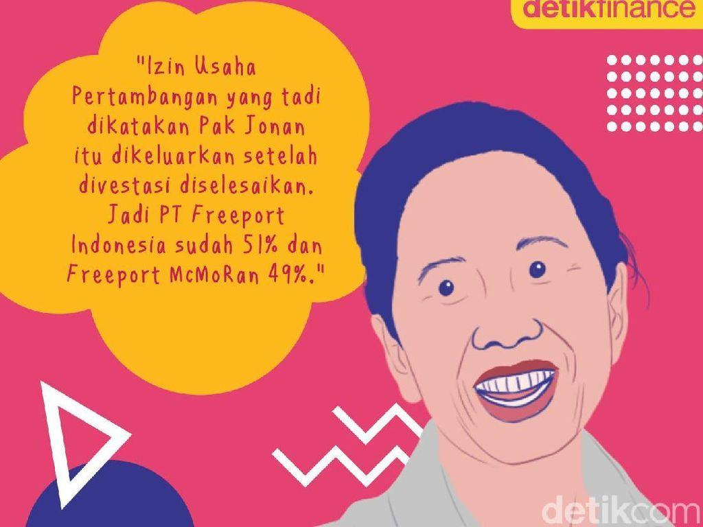 Menteri BUMN, Rini Soemarno. Foto: Nadia Permatasari/Infografis.