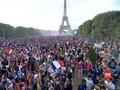 VIDEO: Euforia Juara Prancis di Menara Eiffel