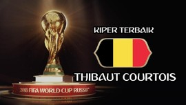 VIDEO: Aksi Impresif Courtois, Kiper Terbaik Piala Dunia 2018